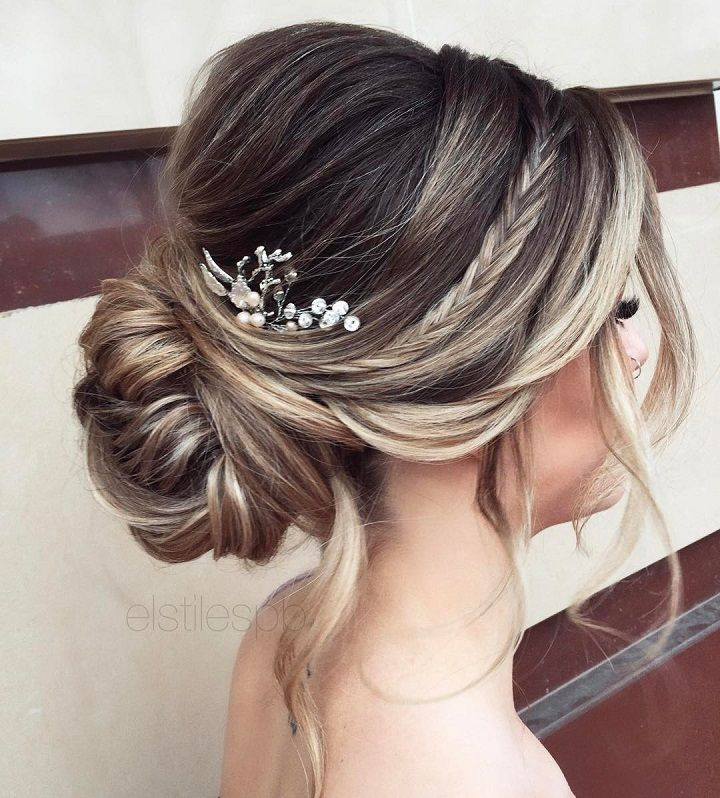 balayage-braid-updo-wedding-hairstyle 12 Wedding Day Killer Hairstyles for Curly Hair