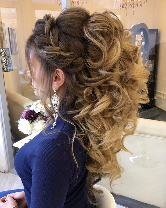 balayage-braid-updo-wedding-hairstyle1 12 Wedding Day Killer Hairstyles for Curly Hair
