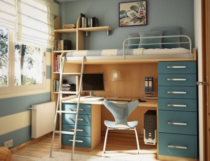 boy-small-bedroom-675x519 Top 10 Coolest Room Design Ideas for Guys ... [2018 Trends]