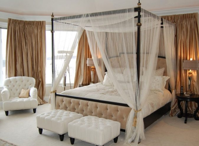 canopy-bed-bedroom-interior-design-5-675x495 Canopy Beds through History... 35+ Bedroom Designs
