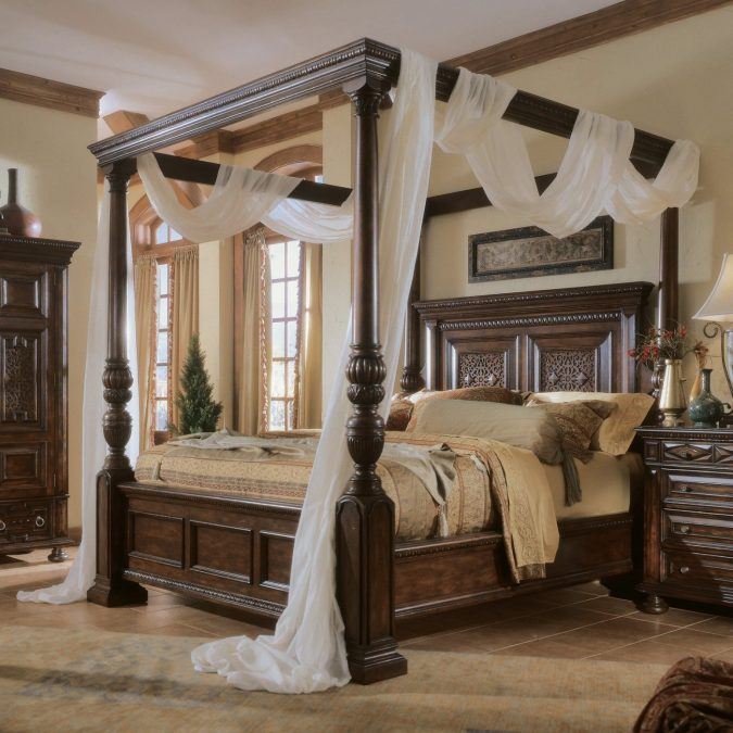 canopy-bed-bedroom-interior-design-675x675 Canopy Beds through History... 35+ Bedroom Designs