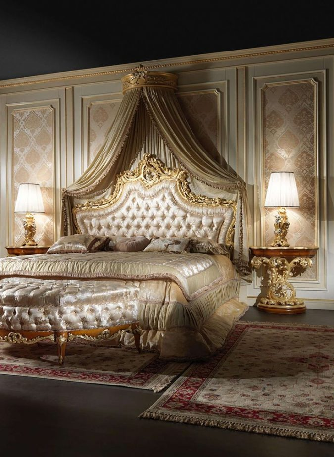 classic-furniture-classic-canopy-bedroom-interior-design-675x923 Canopy Beds through History... 35+ Bedroom Designs