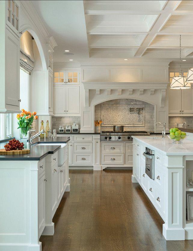 classic-white-kitchen Top 10 Best White Bright Kitchen Design Ideas