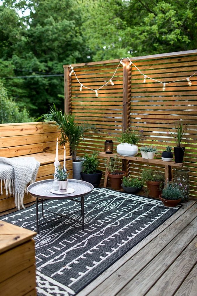 cozy-small-terrace-675x1013 5 Best Ways to Make Your Small Space Cleaner