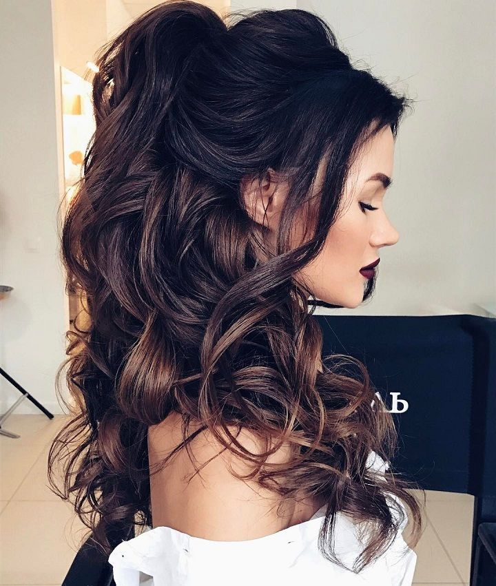 half-up-half-down-hairstyles 12 Wedding Day Killer Hairstyles for Curly Hair