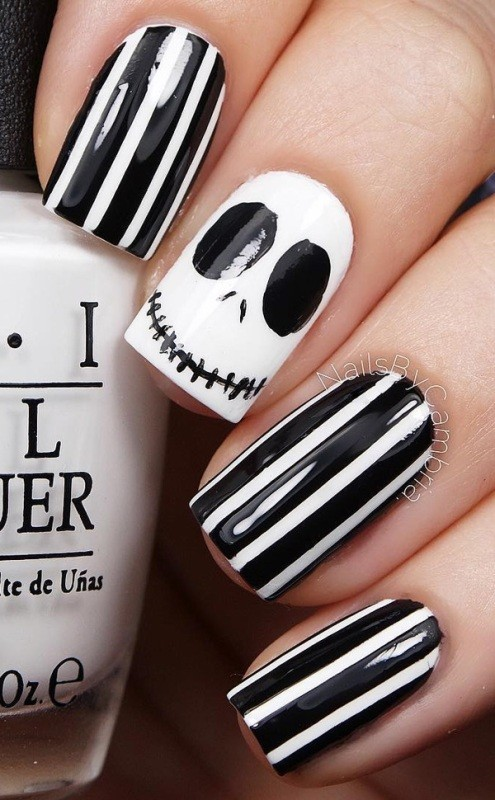 halloween-nail-ideas-1-2 89+ Seriously Spooky Halloween Nail Art Ideas