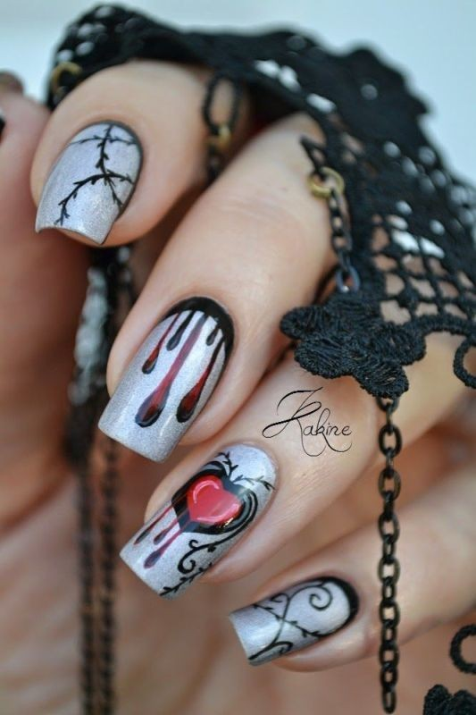 halloween-nail-ideas-10 89+ Seriously Spooky Halloween Nail Art Ideas
