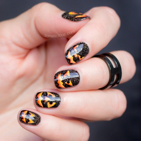 halloween-nail-ideas-101 89+ Seriously Spooky Halloween Nail Art Ideas