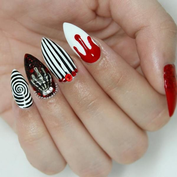 halloween-nail-ideas-102 89+ Seriously Spooky Halloween Nail Art Ideas