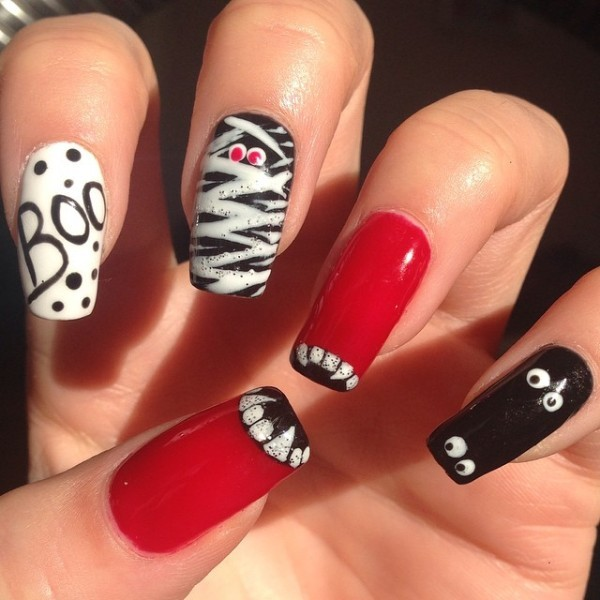 halloween-nail-ideas-104 89+ Seriously Spooky Halloween Nail Art Ideas