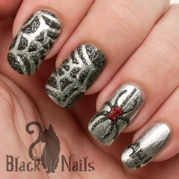 halloween-nail-ideas-105 89+ Seriously Spooky Halloween Nail Art Ideas