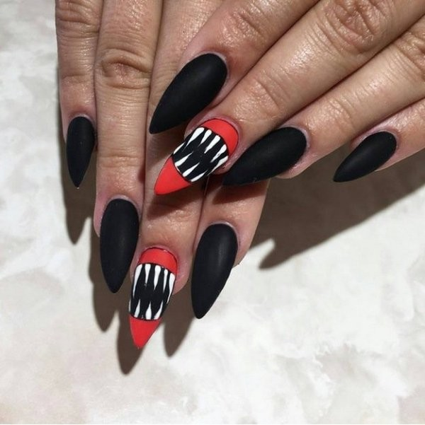 halloween-nail-ideas-108 89+ Seriously Spooky Halloween Nail Art Ideas