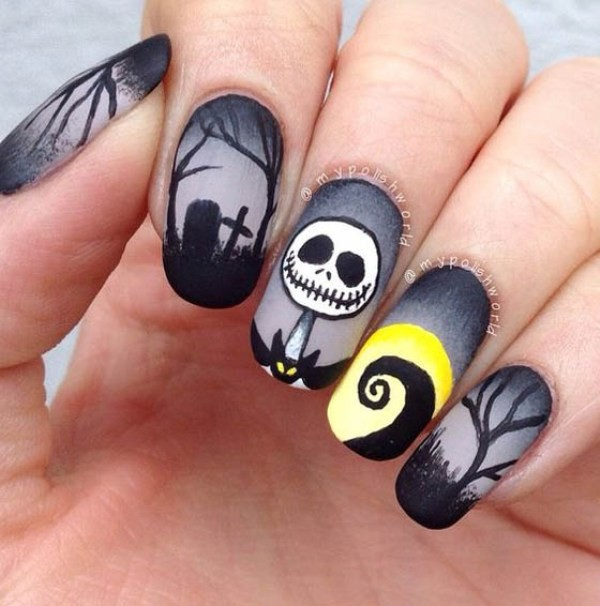 halloween-nail-ideas-111 89+ Seriously Spooky Halloween Nail Art Ideas