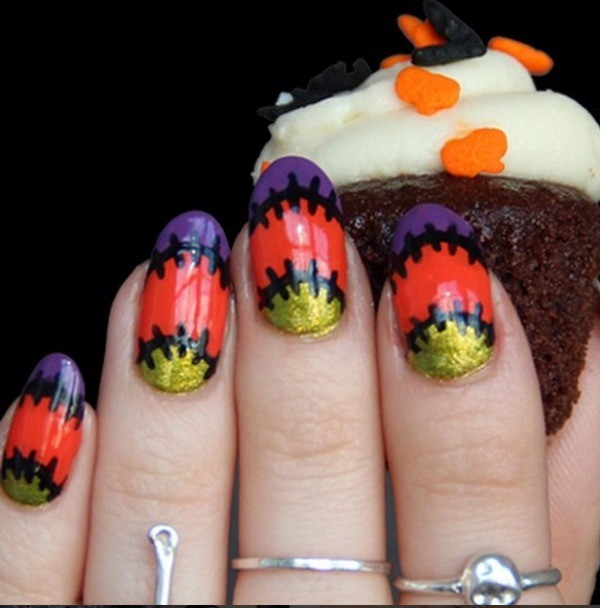halloween-nail-ideas-112 89+ Seriously Spooky Halloween Nail Art Ideas