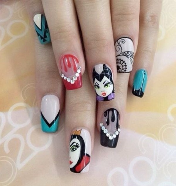 halloween-nail-ideas-115 89+ Seriously Spooky Halloween Nail Art Ideas
