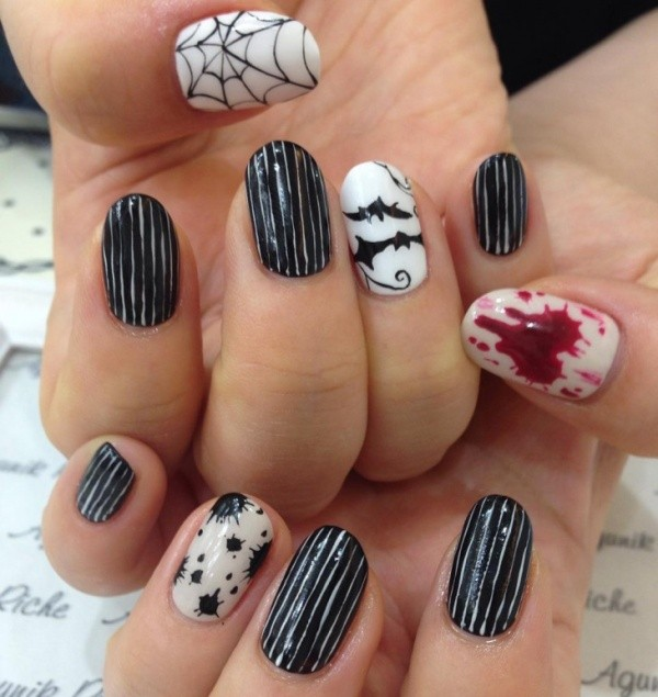 halloween-nail-ideas-116 89+ Seriously Spooky Halloween Nail Art Ideas