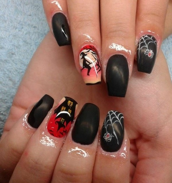 halloween-nail-ideas-117 89+ Seriously Spooky Halloween Nail Art Ideas