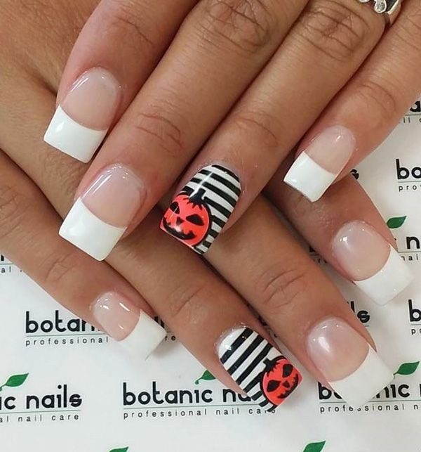 halloween-nail-ideas-118 89+ Seriously Spooky Halloween Nail Art Ideas