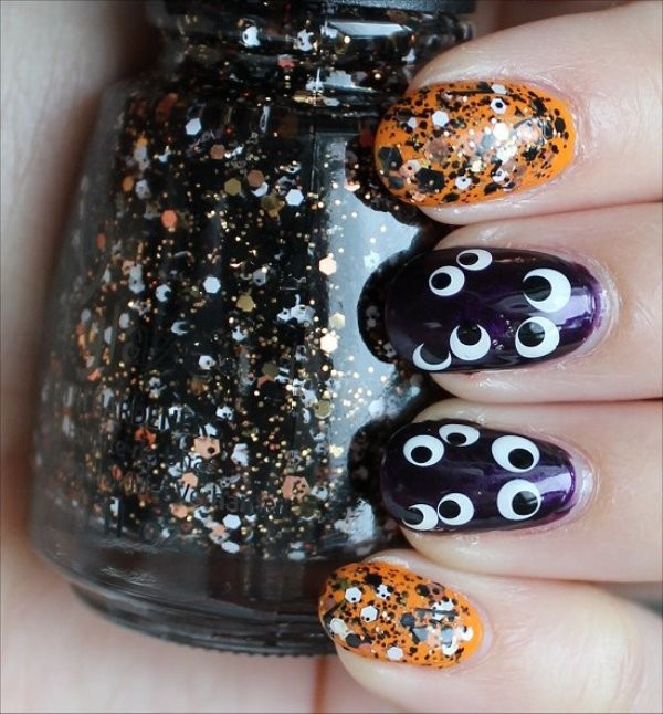 halloween-nail-ideas-119 89+ Seriously Spooky Halloween Nail Art Ideas
