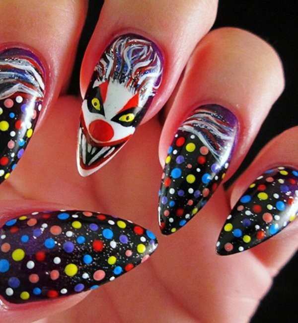 halloween-nail-ideas-120 89+ Seriously Spooky Halloween Nail Art Ideas