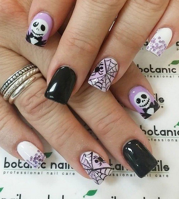 halloween-nail-ideas-124 89+ Seriously Spooky Halloween Nail Art Ideas