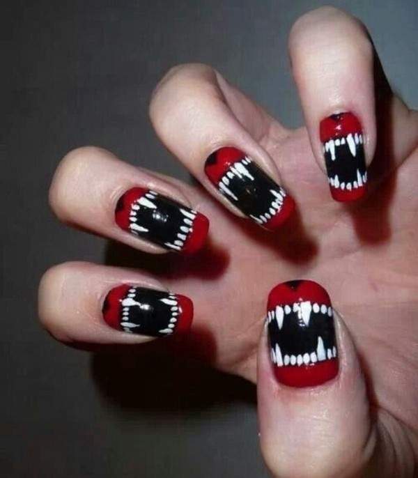 halloween-nail-ideas-125 89+ Seriously Spooky Halloween Nail Art Ideas