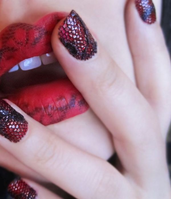 halloween-nail-ideas-127 89+ Seriously Spooky Halloween Nail Art Ideas