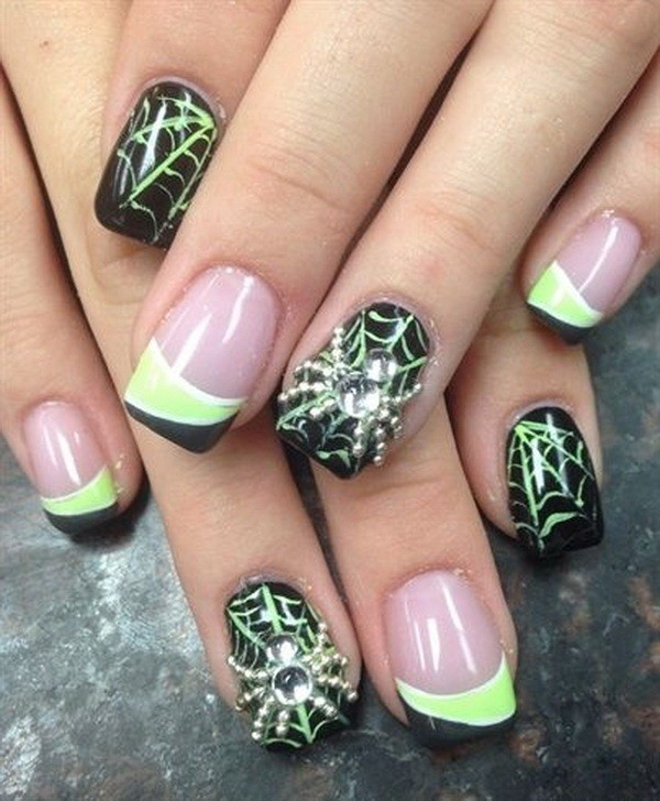 halloween-nail-ideas-130 89+ Seriously Spooky Halloween Nail Art Ideas
