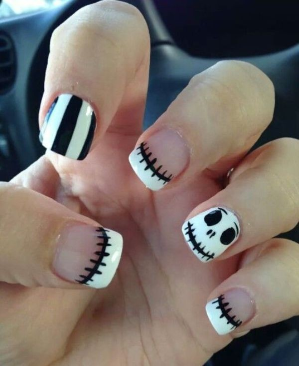 halloween-nail-ideas-131 89+ Seriously Spooky Halloween Nail Art Ideas