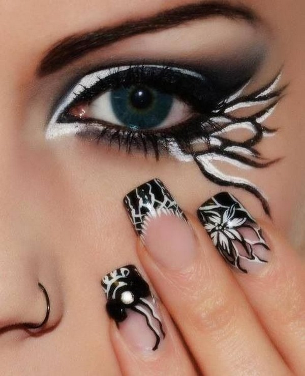 halloween-nail-ideas-133 89+ Seriously Spooky Halloween Nail Art Ideas
