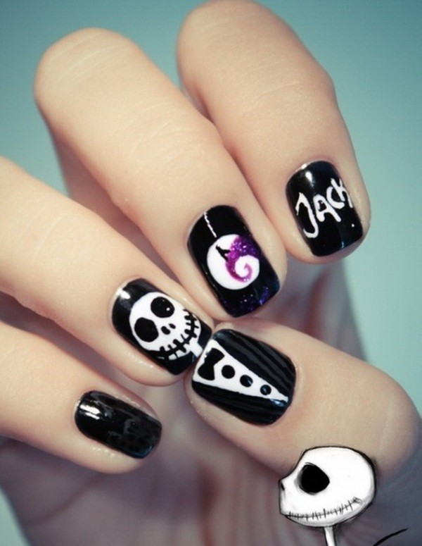 halloween-nail-ideas-138 89+ Seriously Spooky Halloween Nail Art Ideas