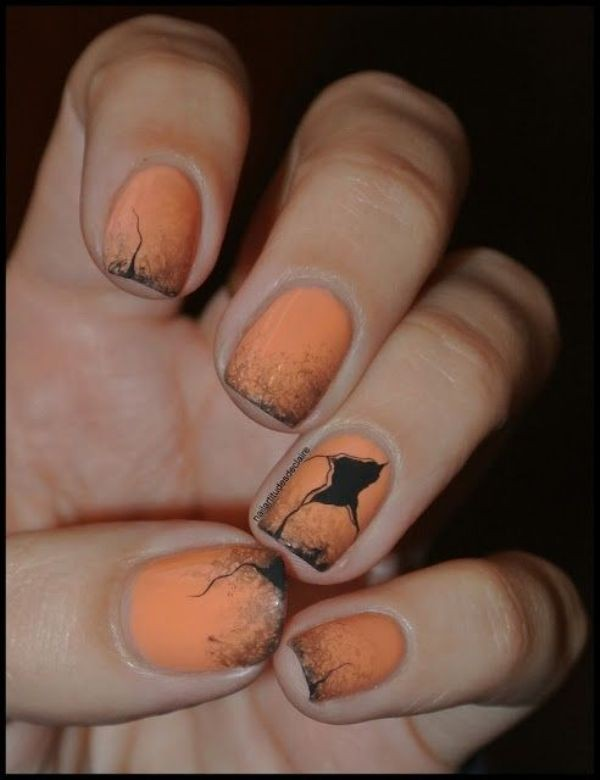 halloween-nail-ideas-139 89+ Seriously Spooky Halloween Nail Art Ideas