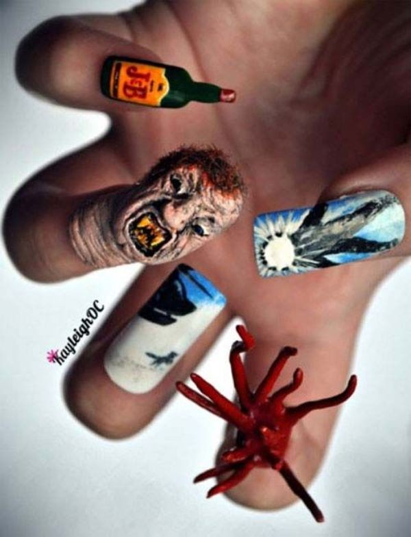 halloween-nail-ideas-141 89+ Seriously Spooky Halloween Nail Art Ideas