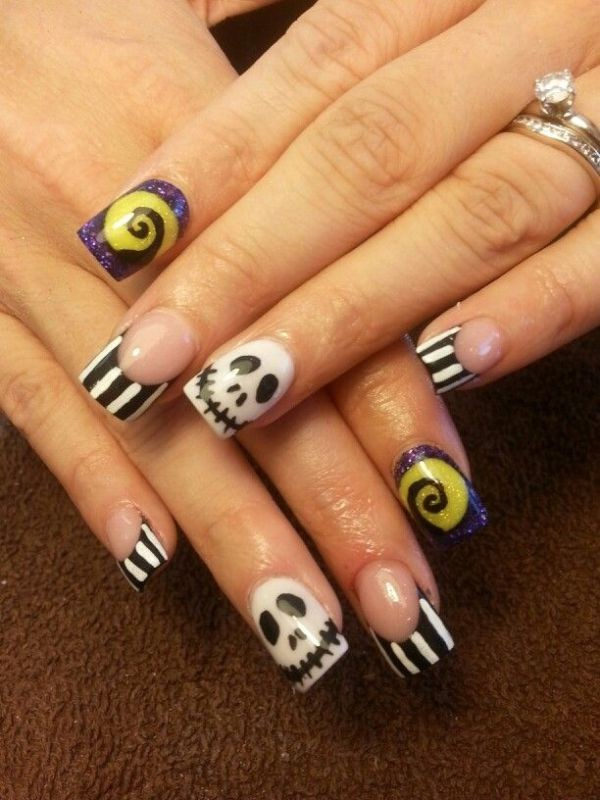 halloween-nail-ideas-143 89+ Seriously Spooky Halloween Nail Art Ideas