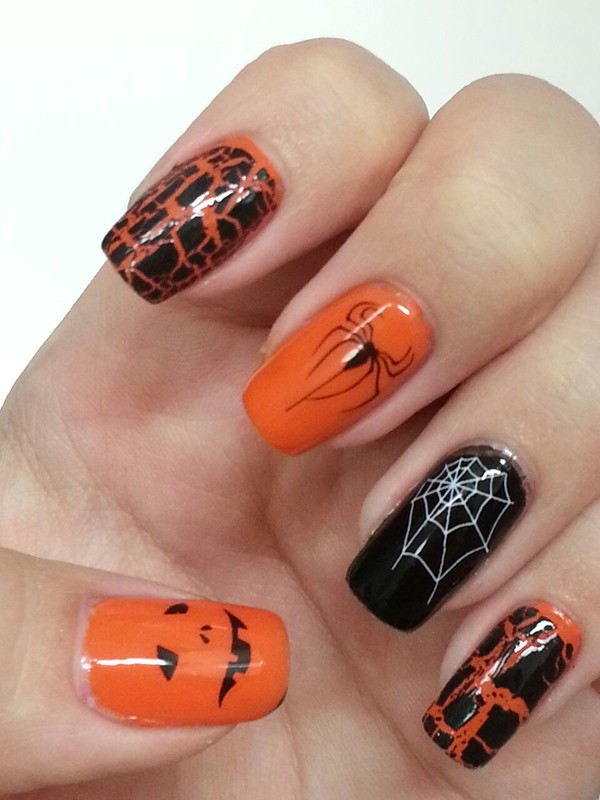 halloween-nail-ideas-144 89+ Seriously Spooky Halloween Nail Art Ideas