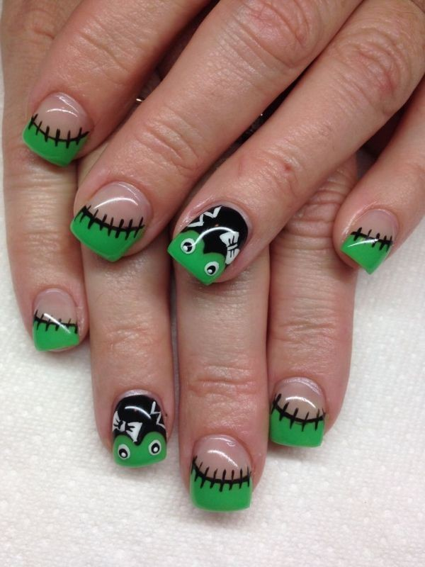 halloween-nail-ideas-147 89+ Seriously Spooky Halloween Nail Art Ideas