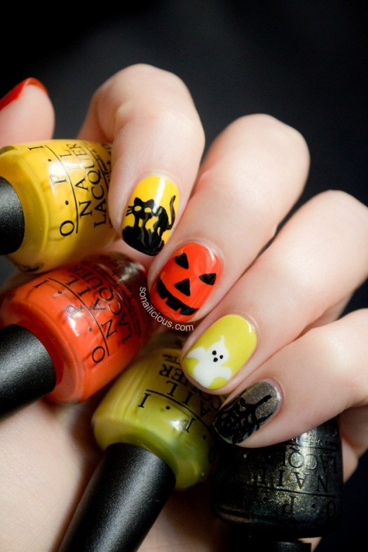 halloween-nail-ideas-15 89+ Seriously Spooky Halloween Nail Art Ideas