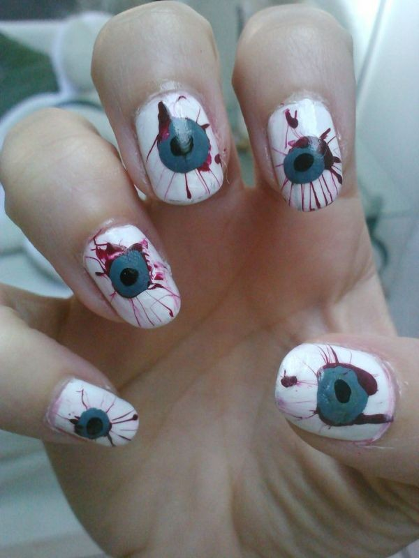 halloween-nail-ideas-152 89+ Seriously Spooky Halloween Nail Art Ideas