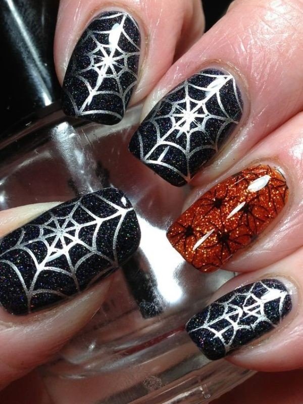 halloween-nail-ideas-154 89+ Seriously Spooky Halloween Nail Art Ideas