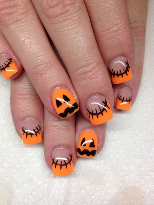 halloween-nail-ideas-156 89+ Seriously Spooky Halloween Nail Art Ideas