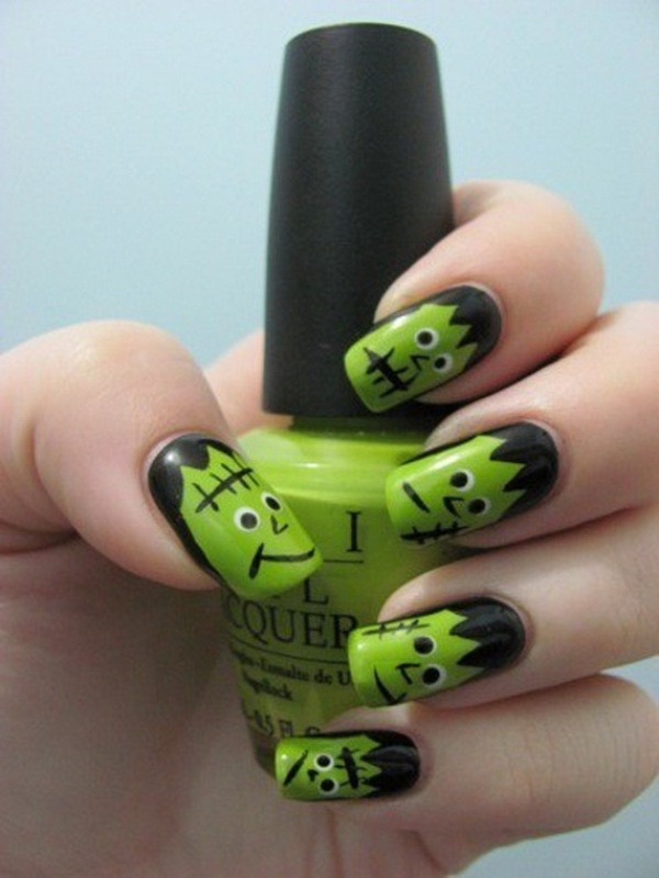 halloween-nail-ideas-159 89+ Seriously Spooky Halloween Nail Art Ideas