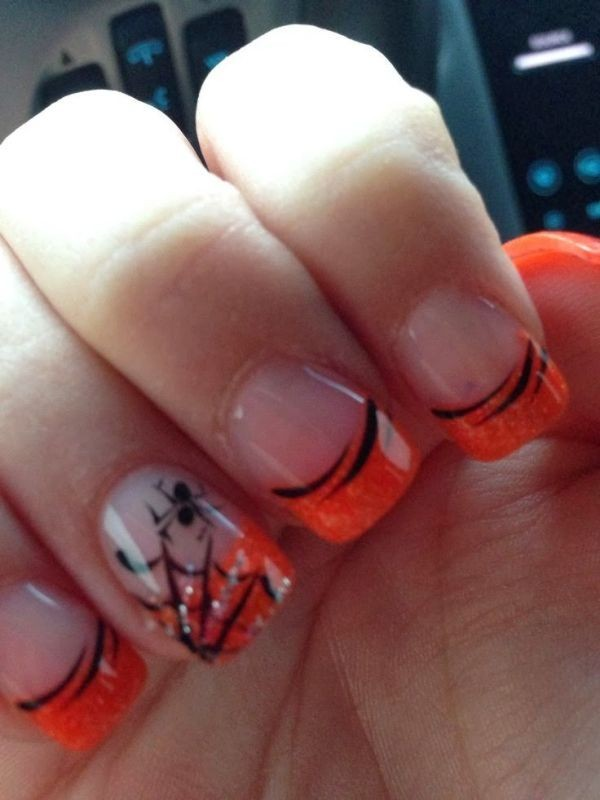 halloween-nail-ideas-160 89+ Seriously Spooky Halloween Nail Art Ideas