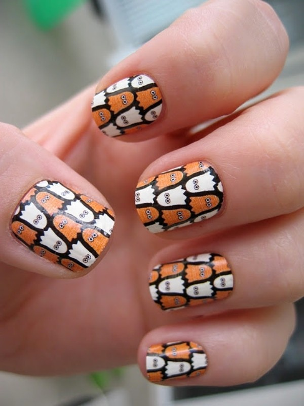 halloween-nail-ideas-161 89+ Seriously Spooky Halloween Nail Art Ideas