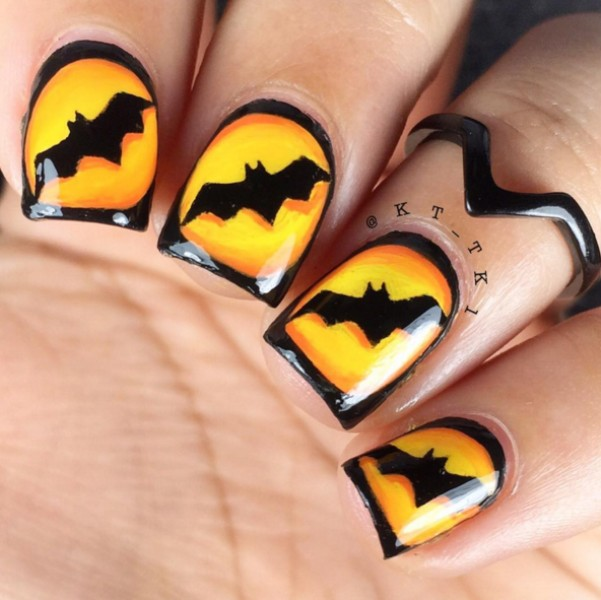 halloween-nail-ideas-165 89+ Seriously Spooky Halloween Nail Art Ideas