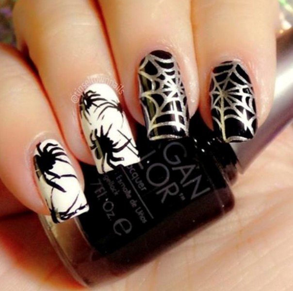 halloween-nail-ideas-169 89+ Seriously Spooky Halloween Nail Art Ideas