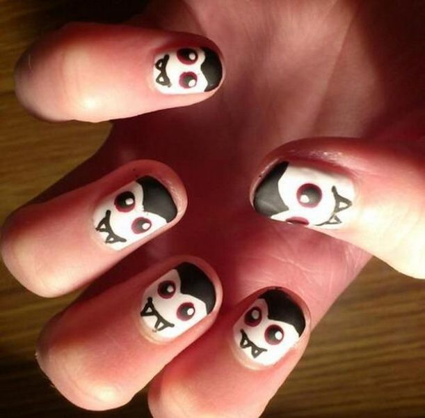 halloween-nail-ideas-172 89+ Seriously Spooky Halloween Nail Art Ideas