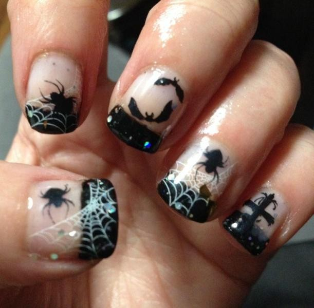 halloween-nail-ideas-173 89+ Seriously Spooky Halloween Nail Art Ideas
