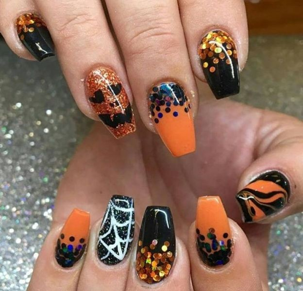 halloween-nail-ideas-175 89+ Seriously Spooky Halloween Nail Art Ideas