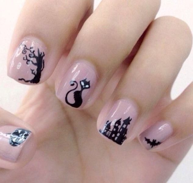 halloween-nail-ideas-176 89+ Seriously Spooky Halloween Nail Art Ideas