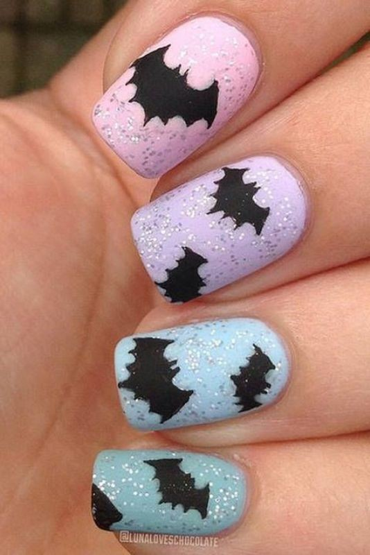 halloween-nail-ideas-18 89+ Seriously Spooky Halloween Nail Art Ideas